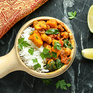 Sweet Potato Chickpea Curry.