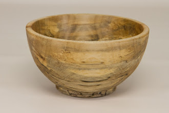 "Photo: Bob Browning 4"" x 4""  bowl [spalted maple]"