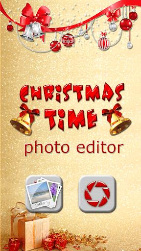 聖誕節的時候 照片編輯器