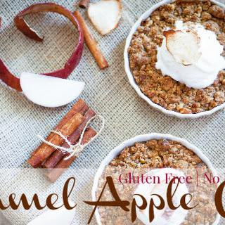 Caramel Apple Crisp (Gluten Free, No Refined Sugar)
