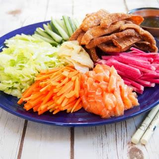 Yee sang, Chinese salad (aka 'prosperity toss').