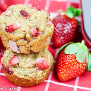 Healthy Whole Wheat Strawberry Muffins.