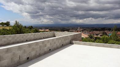 Photo: uitzicht vanaf het platte dak