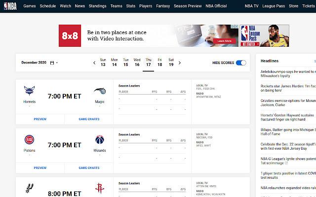 NBA League Pass Spoiler Blocker