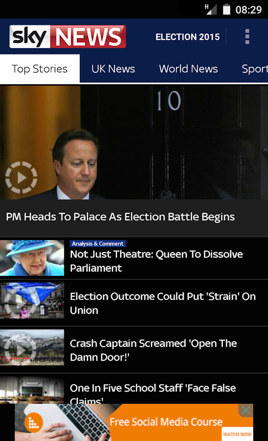 Sky News - screenshot