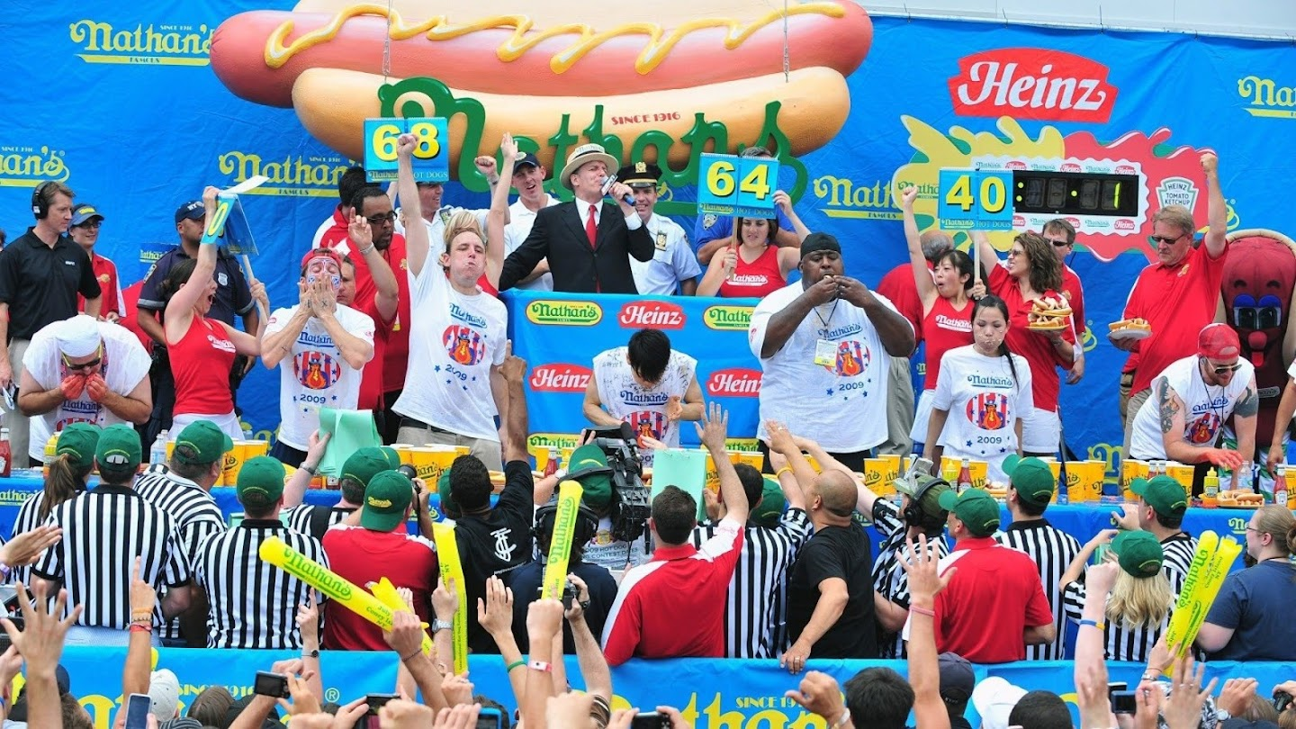 Watch 2009 Nathan's Hot Dog Eating Contest live