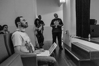 """Photo: Txema @Txemacg, community manager del evento, más conocido como """"el hombre que se mantiene pegado a su asiento"""". Ya verán, ya..."""