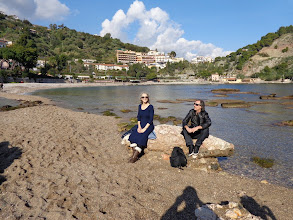 Photo: On the beach at Isola Bella