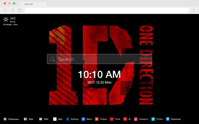 One direction new tab HD pop music theme