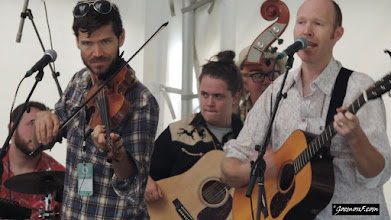 Photo: The Bills, leading a workshop at the Calgary Folk Music Festival