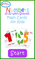 Screenshot of 0-10 Numbers Baby Flash Cards