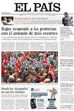 Photo: Rajoy responde a las protestas con más recortes, el chavismo busca sucesor vigilado por los Castro y el Ejército, y una investigación española predice la actividad del Sol, en la portada impresa de este lunes http://srv00.epimg.net/pdf/elpais/1aPagina/2012/04/ep-20120430.pdf