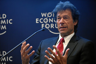 Photo: DAVOS/SWITZERLAND, 26JAN12 - Imran Khan, Chairman, Pakistan Tehreek-e-Insaf, Pakistan gestures during the session 'The Future of South Asia' at the Annual Meeting 2012 of the World Economic Forum in the congress center in Davos, Switzerland, January 26, 2012.  Copyright by World Economic Forum swiss-image.ch/Photo by Remy Steinegger