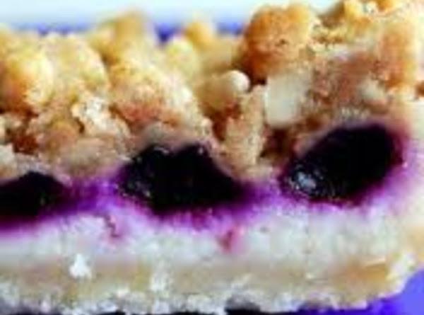 Coconut Lemon Blueberry Cheesecake Bars Recipe