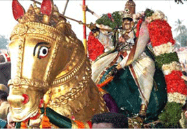 Kallazhagar in Vaigai