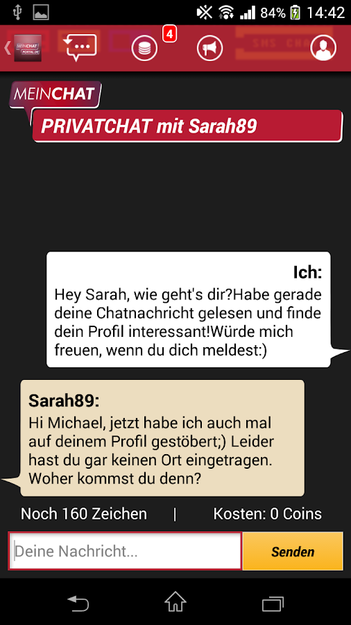 Mein Chat Portal- RTL SMS Chat – Screenshot