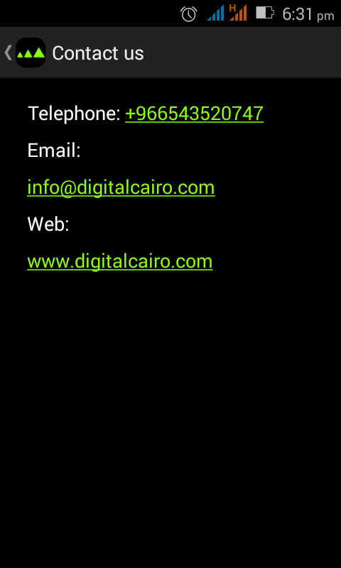 Digital Cairo Software- screenshot