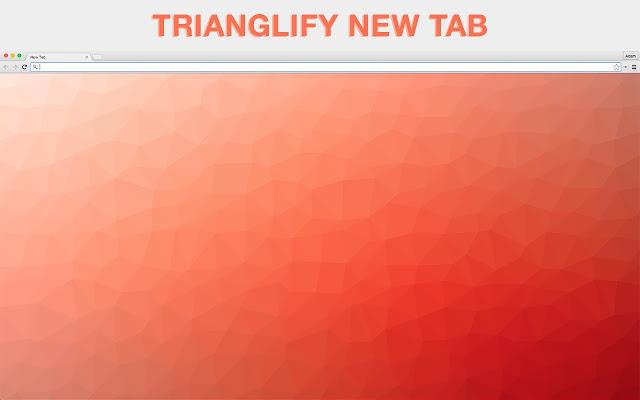 Trianglify New Tab