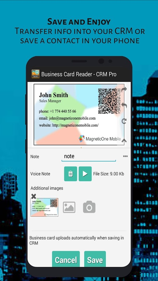 Business Card Reader - CRM Pro- screenshot