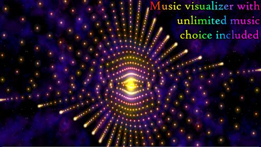 Morphing Galaxy Music visualizer & Live Wallpaper screenshots 1