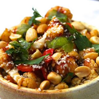 Kung Pao Roasted Cauliflower
