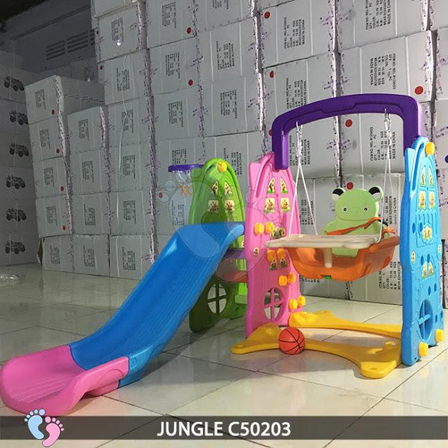 Cầu trượt cho bé 3 in 1 Jungle C50203 2