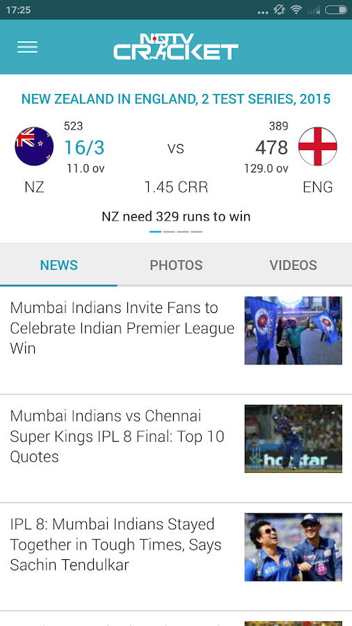 NDTV Cricket- screenshot