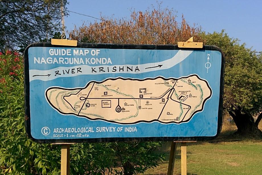 Guide map of Nagarjuna Konda