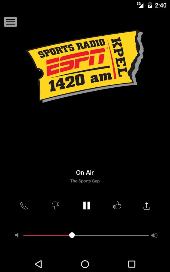ESPN 1420 - KPEL 1420AM - Lafayette Sports Radio- screenshot