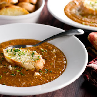 Chickpea Soup with Parmesan Crostini