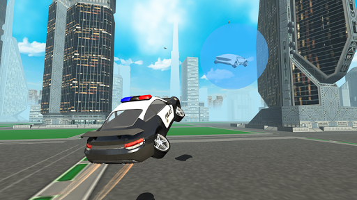 Futuristic Flying Police Car