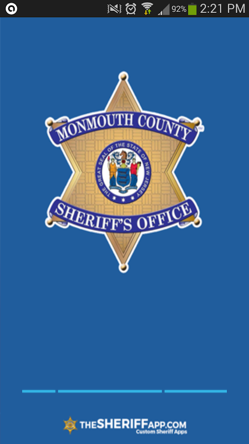 Monmouth County Sheriff- screenshot