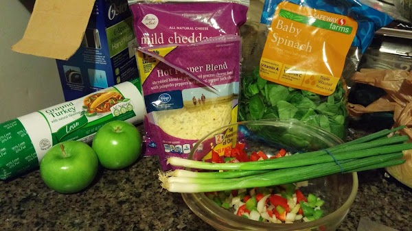 First mix up ground turkey and turkey sausage mix well add bread crumbs and...