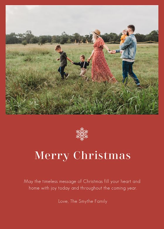 Greetings from the Smythes - Christmas Card Template