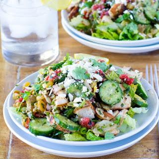 Chicken Shawarma Mediterranean Salad (Pita Jungle Copycat).