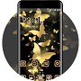 Theme for golden butterfly luxury wallpaper APK icon