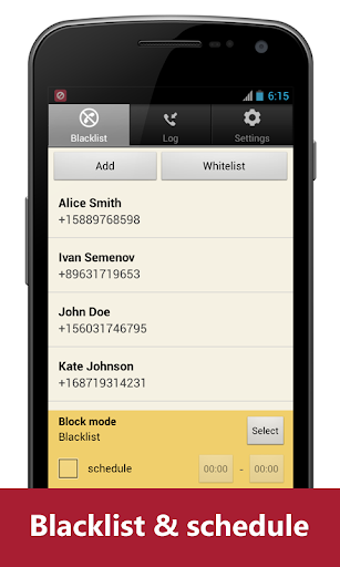 Blacklist Plus - Call Blocker screenshot 1