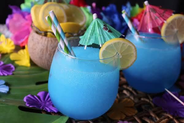 Frozen Blue Whale Drink In A Glass Is An Easy Summer Drink