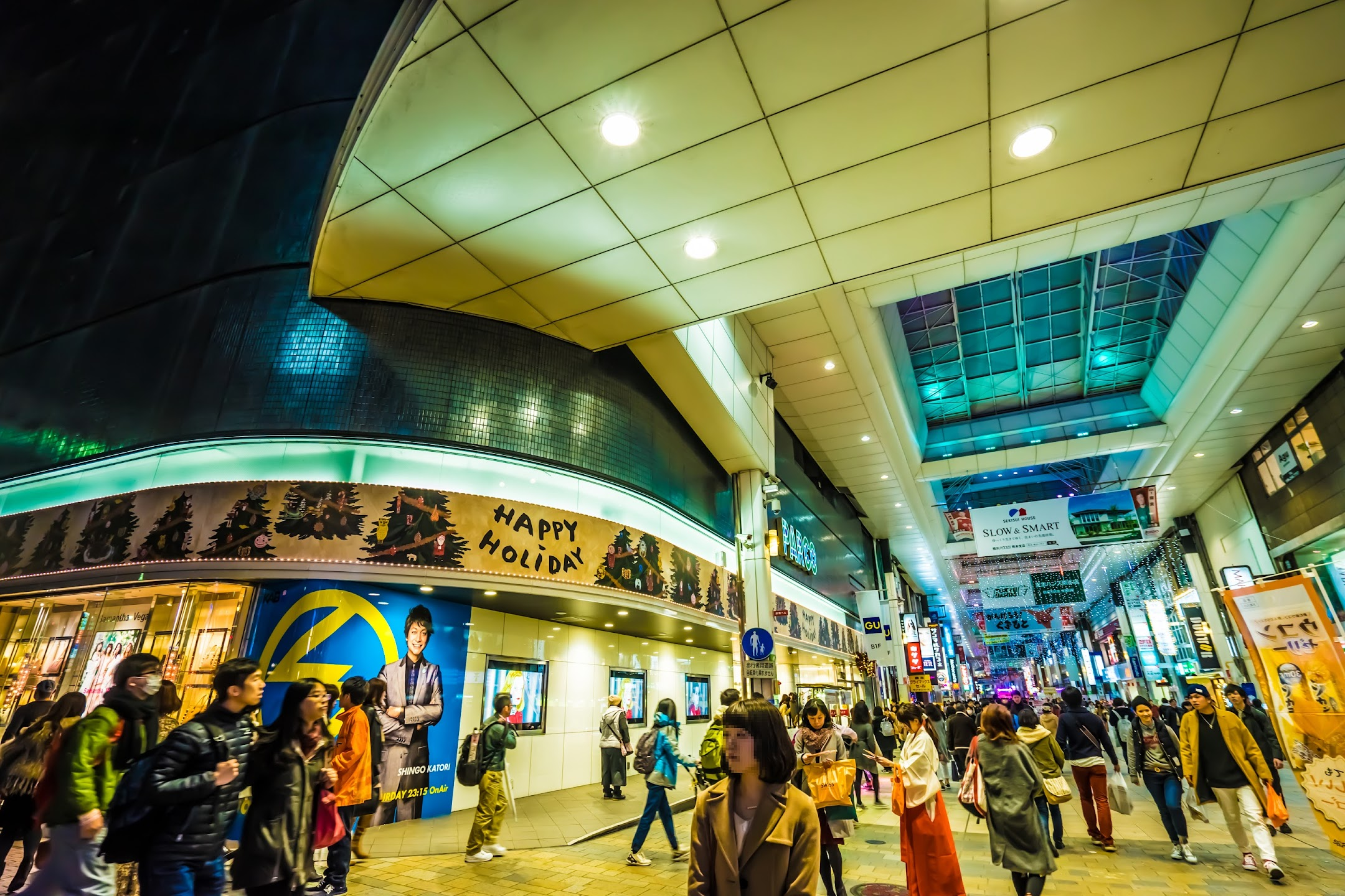熊本 夜 下通商店街2