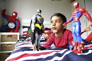 Levi Naiker, 4, jumped off a jungle gym this week while playing superheroes and cut his chin open.