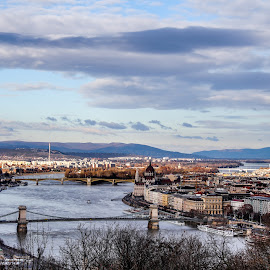 Budapest Top view from Citadella  by Aamir DreamPix - City,  Street & Park  Vistas ( top, budapest )