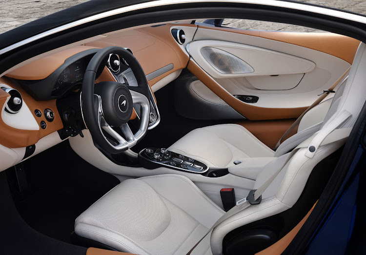 The McLaren GT's luxurious interior.