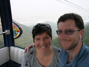 Photo: Suzanne and Mick riding the cable car down from seeing the buddha