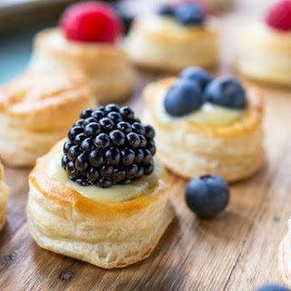 Red, White, and Blue Mini Berry Tarts.