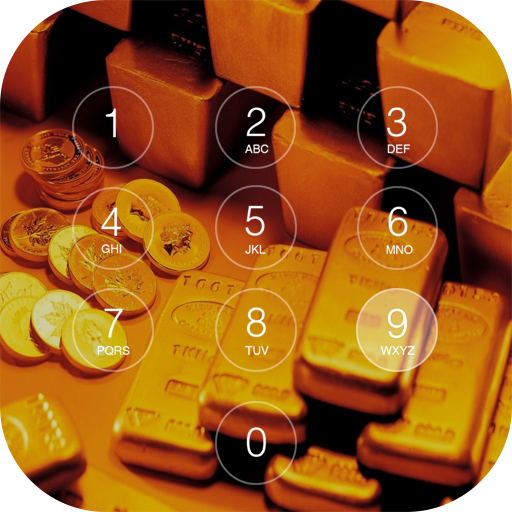 Gold Theme Keypad Lock Screen