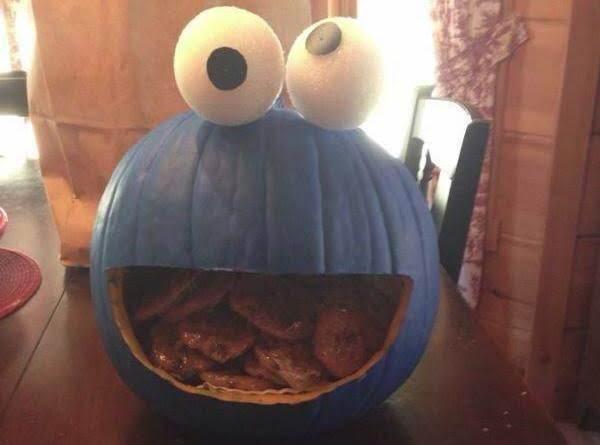 Cookie Monster Pumpkin :d