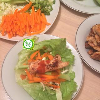 Chicken Lettuce Wrap.