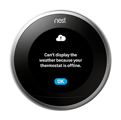 Nest thermostat offline error message