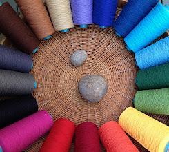 Photo: cotton rainbow yarn  set.
