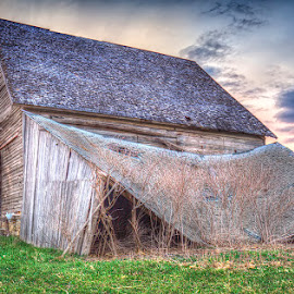 Yesterday by Ken Smith - Buildings & Architecture Decaying & Abandoned ( barn, sunset, nebraska )